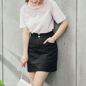 《CA1661-》 臧芮軒。高含棉高腰排扣收腹褲裙 OB嚴選