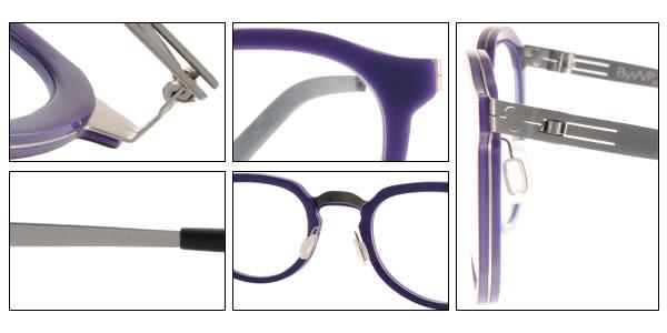 BYWP 光學眼鏡 BY13043 LIC (紫-銀) 文青復古風味圓框款 # 金橘眼鏡