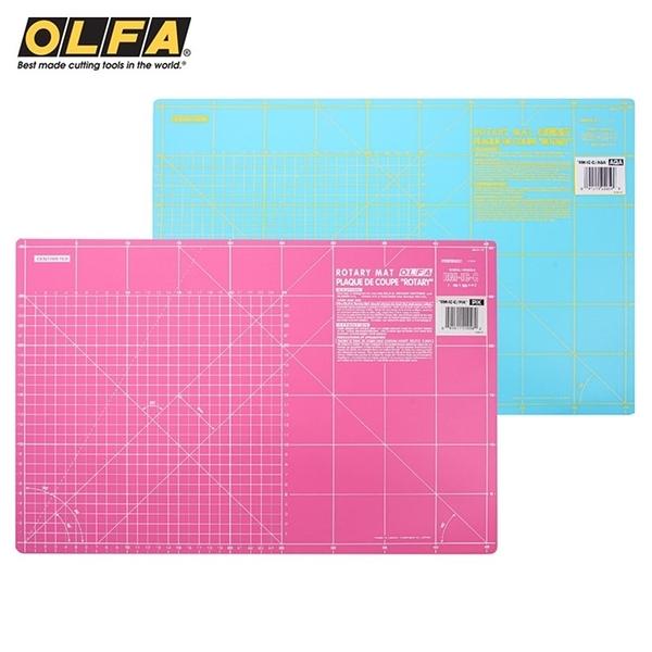 又敗家@日本OLFA雙面拼布墊RM-IC-C防滑裁切墊A3切割墊(厚0.15mm;2種尺規)割布墊美工作墊裁縫墊