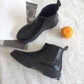 春秋復古馬丁靴女英倫風切爾西短靴平底韓版學生百搭2019新款春季 滿天星