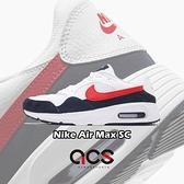 Nike 休閒鞋 Air Max SC 白 黑 紅 氣墊 運動鞋 男鞋 小白鞋 【ACS】 CW4555-103