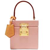 LOUIS VUITTON LV 路易威登 粉色Vernis漆皮手提包/珠寶箱 Bleecker Box M52516 【二手名牌BRAND OFF】
