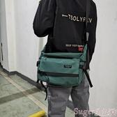 尼龍包男士工裝斜背包防水尼龍布側背包學生休閒書包大容量郵差包潮 suger