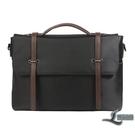 公事包男士手提包休閒帆布側背包電腦包商務簡約文件辦公包【邻家小鎮】