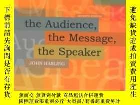 二手書博民逛書店The罕見Audience The Message The Speaker-聽眾傳達信息演講者Y436638