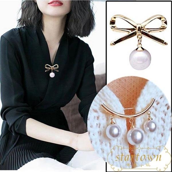 【3個裝】胸針領口防走光珍珠扣別針配飾開衫別針【繁星小鎮】