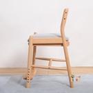 實木學習椅 學習椅實木兒童寫字椅凳中學生書房書桌椅子家用可升降調節學生椅T
