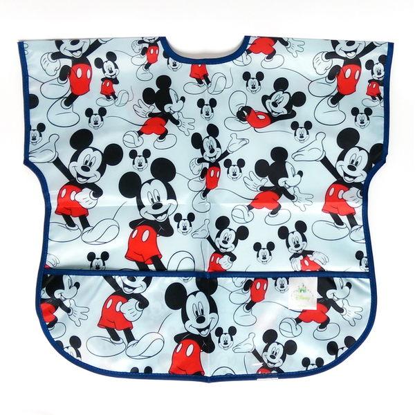 美國 bumkins Junior Bib 迪士尼 防水 防臭 防污 無袖防水圍兜口水巾1-3歲 (米奇款)-超級BABY