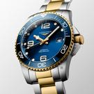 LONGINES 浪琴 深海征服者浪鬼陶瓷潛水機械錶-藍x金/41mm(L37813967)