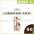 寵物家族-LOLO 小型鸚鵡棒棒糖(奇異果)90g