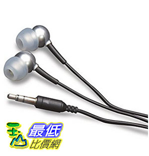[美國直購] MobileSpec In-Ear Earbud Headphone for iPods/MP3 Players with 3.5mm Plug (Silver) 耳機