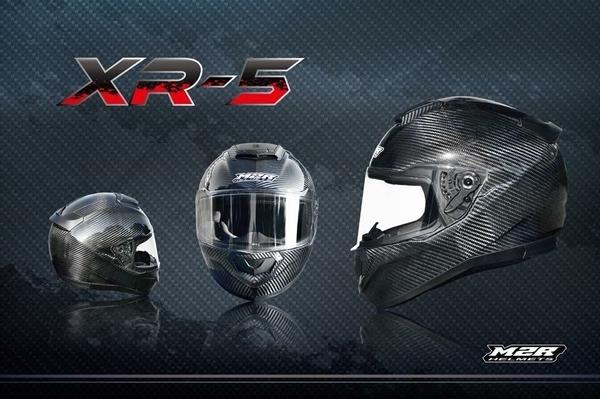 M2R安全帽,碳纖維安全帽,XR5,原色