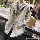 風衣男士春秋季新款韓版潮流港風學生中長款寬鬆帥氣男裝外套 時尚潮流