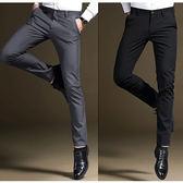 男休閒西裝褲(3色)彈力修身薄款商務職業長褲SX1025
