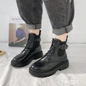 網紅增高瘦瘦馬丁靴女夏季款ins潮靴2020新款百搭復古英倫風短靴 中秋節