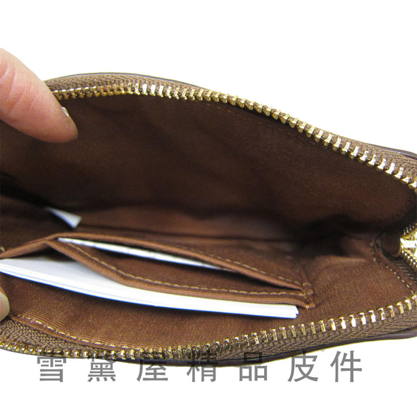 COACH 手拿包L拉鍊主袋分類國際正版保證手提手拿進口防水防刮皮革4.7吋手機附品證購證原吊牌