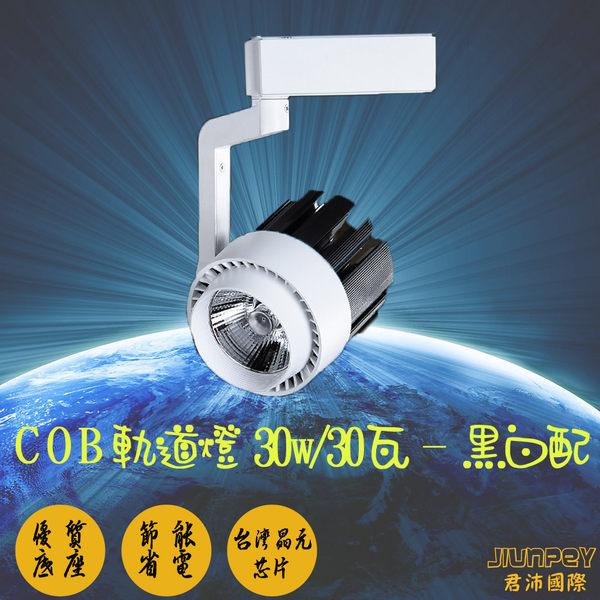 led軌道燈泡 COBled軌道燈具 led 軌道投射燈 華臣A022 30W / 30瓦 黑白配 (白光/暖白光)