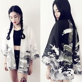 羽織日式開衫和風外套女日系龍袍日本學生浮世繪道袍夏中國風上衣