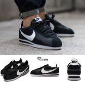 Nike 復古慢跑鞋 Classic Cortez Nylon 黑 白 尼龍 阿甘鞋 黑白 男鞋 女鞋【PUMP306】 807472-011