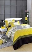 SMART城市風格雙人床包枕套三件組