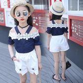 兒童裝女童套裝小女孩短袖衣「Chic七色堇」