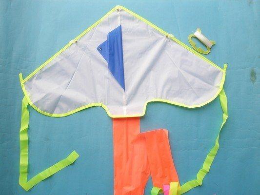 台灣製空白風箏 (小型.彩色尾巴)【一袋5支入】[#120] 彩繪風箏 DIY風箏 三角風箏