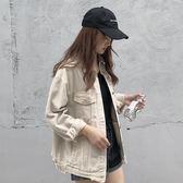 2018新款韓版原宿風牛仔外套女春秋bf寬鬆長袖外套上衣ulzzang