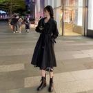 秋季2020新款寬鬆顯瘦百搭風衣女秋冬百搭黑色韓版氣質中長款外套 貝芙莉