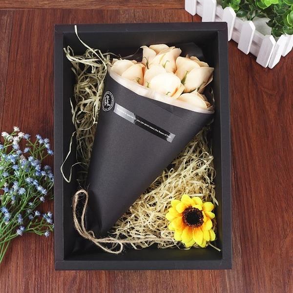 母親節禮物實用送媽媽40歲創意禮物生日女生玫瑰花香皂花花束禮盒【八折搶購】