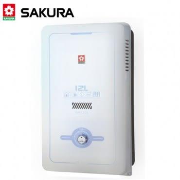 【櫻花SAKURA】12L大廈型熱水器(GH-1205)-天然瓦斯2