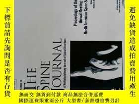 二手書博民逛書店The罕見Spine Journal 10 2017 脊柱醫學學術期刊考研論文資料 Y114412