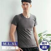 【台灣製】條紋圓領短袖 男性/男用/內衣/內著/內穿外穿皆可/T恤 MIT 芽比 NONNO YABY N90008