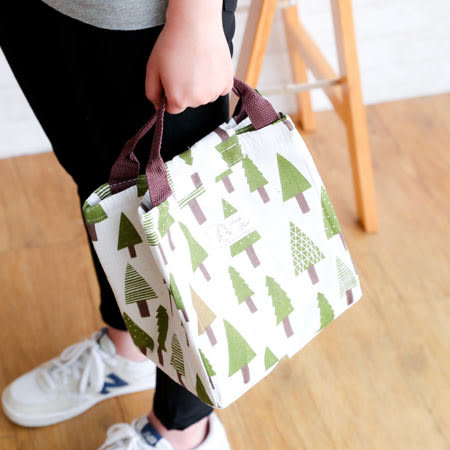 帆布手提保溫袋 手提袋 手提包 便當袋 便當包 環保袋 午餐 中餐 便當 飯盒 野餐 鋁箔 保溫 保冰