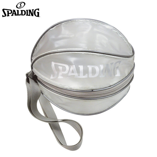 【LAKEIN運動網】║SPALDING║單顆裝籃球瓢蟲袋(銀)