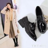 中跟鞋 女鞋新款單鞋春季小皮鞋女英倫ins鞋子女學生中跟韓版百搭 夢幻衣都