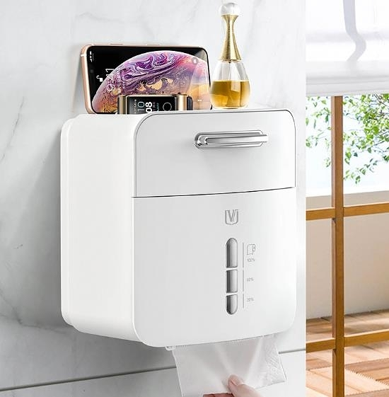 衛生間面紙盒 衛生紙置物架免打孔防水廁所廁紙盒卷紙筒創意抽紙盒 快速出貨
