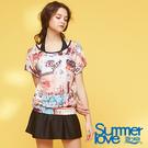 【Summer Love 夏之戀】加大碼渡假風長版三件式泳衣(S18724)