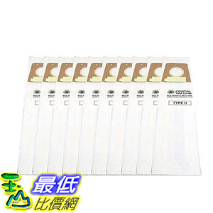 [106美國直購] 10 Highly Durable Dirt Devil Type U Allergen Filtration Vacuum Bags 3920750001 3920047001