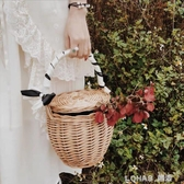 柳編采摘籃藤編提籃禮品籃竹編筐手提包野餐籃草編包沙灘包菜籃子 樂活生活館