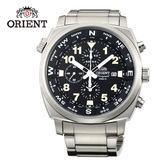 ORIENT 東方錶 東方霸王專業方位判定石英錶 鋼帶款 FTT17001B 黑色 - 45.5mm