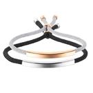 《 QBOX 》FASHION 飾品【B21N1150】精緻個性簡約彎面束口繩情侶鈦鋼手鍊/手環