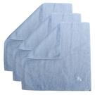 [ NG大放送 ]BURBERRY戰馬LOGO純棉方巾3入(淡藍色)081008
