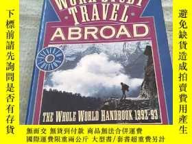 二手書博民逛書店WORK罕見STUDY TRAVEL ABROAD1992-19
