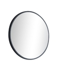 【麗室衛浴】時尚黑框烤漆圓鏡 500*500mm
