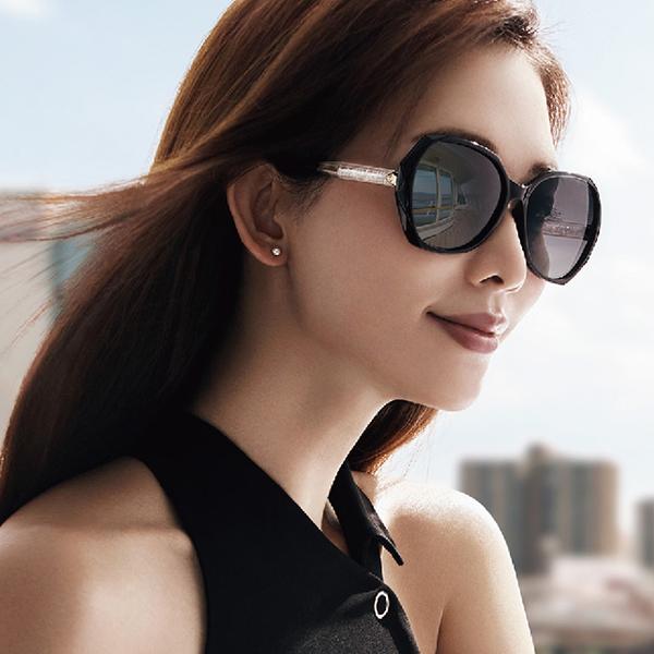 HELEN KELLER 林志玲代言 H8636 TR38 (黑-金) 偏光太陽眼鏡 久必大眼鏡