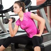夏季新款韓版跑步健身衣運動速乾女瑜珈服短袖 免運快速出貨