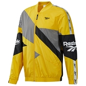 REEBOK CLASSICS VECTOR JACKET 男裝 外套 慢跑 訓練 風衣 舒適 黑 黃【運動世界】EC4624