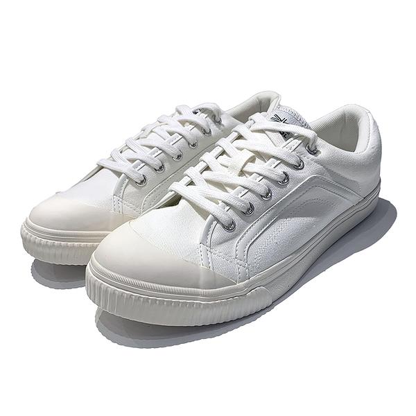 KANGOL 男款休閒鞋帆布鞋 6021200200 白