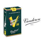 小叮噹的店- 法國 Vandoren ALTO V16 中音薩克斯風竹片 10片裝 A-V16