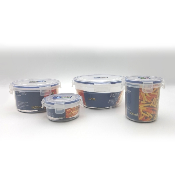 【麻吉滴家】天廚圓型保鮮盒 1.55L KI-C1550